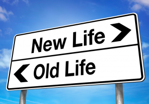 New Life Old Life Sign